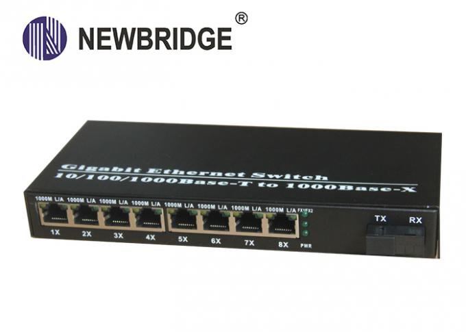 10 100 1000M Media Converter Single Mode Ethernet fiber converter