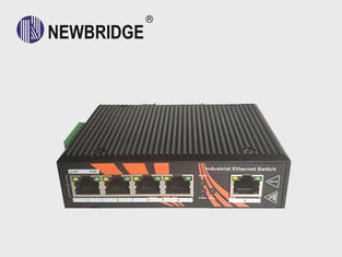 China Din Rail Power Over Ethernet Switch 5*10/100 Base -T LED Indicators For Monitoring supplier