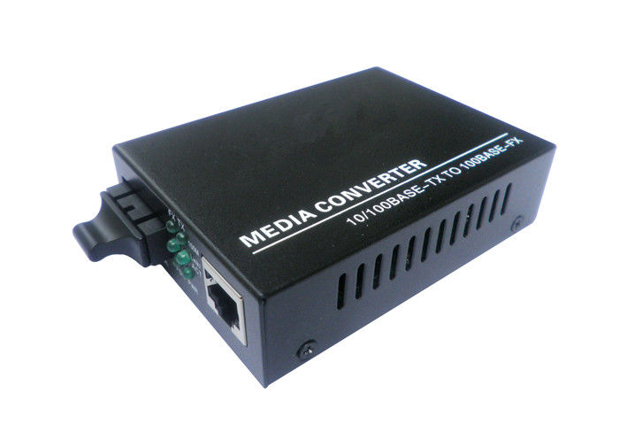 CE Certification 10M / 100M Fiber Optic Media Converter Single Mode 1310nm 20km SC