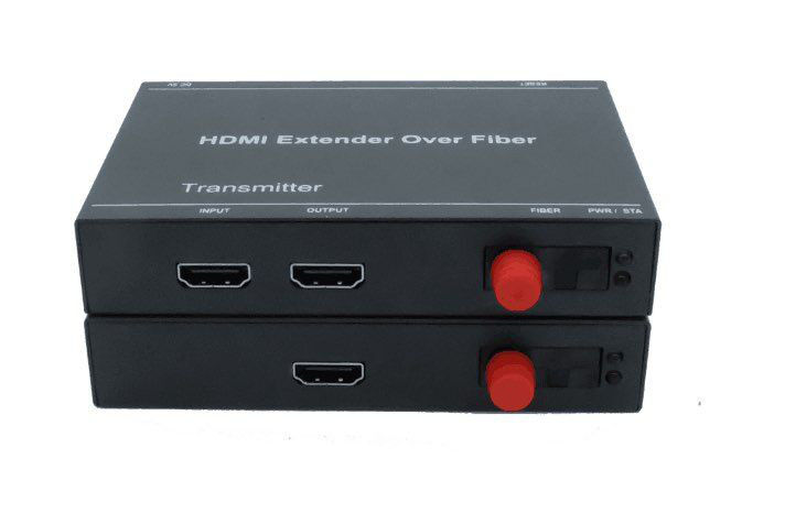 HDMI Fiber Extender single mode fiber optic media converter 20KM 1080p video Transmitter and Receiver
