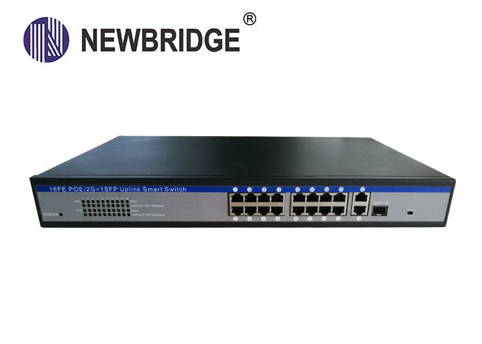 19 Ports Industrial Ethernet Switch , Power Over Ethernet Switch 2*10/100/1000M Uplink Port