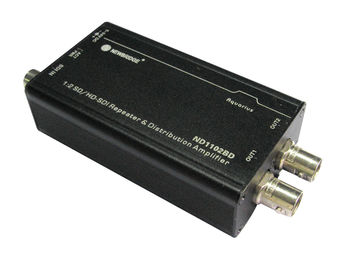 1 input 2 output audio splitter 1080P SDI splitter 1X2 SD/HD/3G- SDI Repeaters