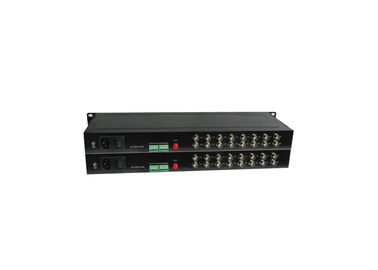China SM Port 40km 10 100 1000M Media Converter 16 Channel Video 1 Channel Return RS232 Data factory
