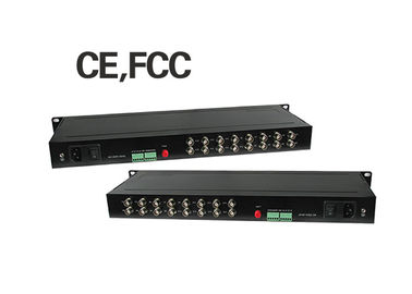 China FC Port 60km Fiber Media Converter 16 Channel Video 1 Channel RS485 Return Data factory