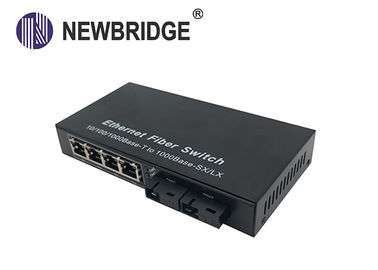 China 4 RJ45 port 20KM to 120KM FTTH gigabit media converter with 2 fiber port factory