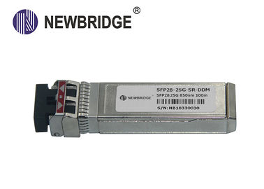 China SFP28 25G SFP Fiber Optic Transceiver 850nm VCSEL Transmitter For Inter Rack Connectione factory