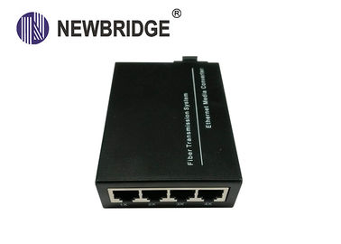 China 100BASE-TX/FX ,IEEE802.3, Ethernet To Fiber Media Converter dual fiber Singel Mode for 4 ports factory