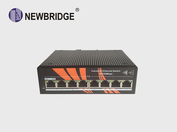 8 Port Unmanaged PoE Ethernet Switch IP40 Protect Grade Without Cooling Fan